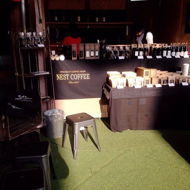 nest coffee、AMU広場に出店中です♪