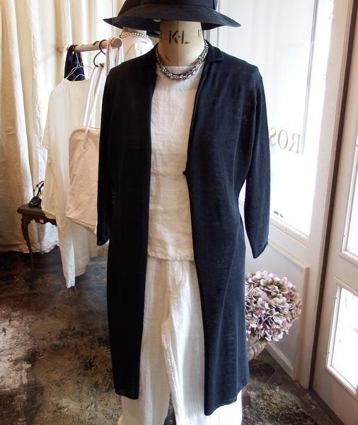 evam eva : french linen robe