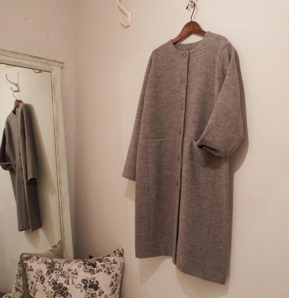 evam eva : press wool coat