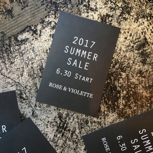 明日6/30(金)より、2017 Summer Saleスタート!!